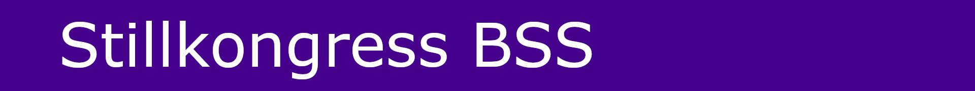 Stillkongress BSS